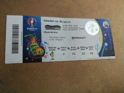 TICKET EURO 2016 : SWEDEN - BELGIUM MATCH 36