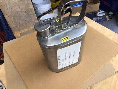 Stainless Steel 1 Gallon Gas Can Laboratory Safety Empty