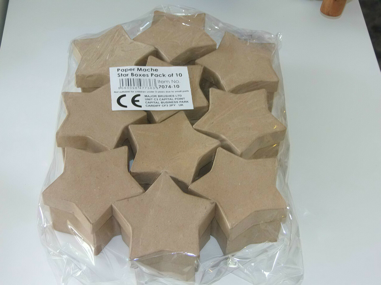 Papier Mache Boxes X 10 Star Shaped Box Craft Projects