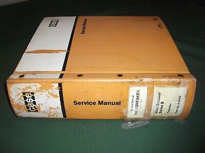 Case Maxi-sneaker Trencher Service Shop Repair Workshop Manual Original