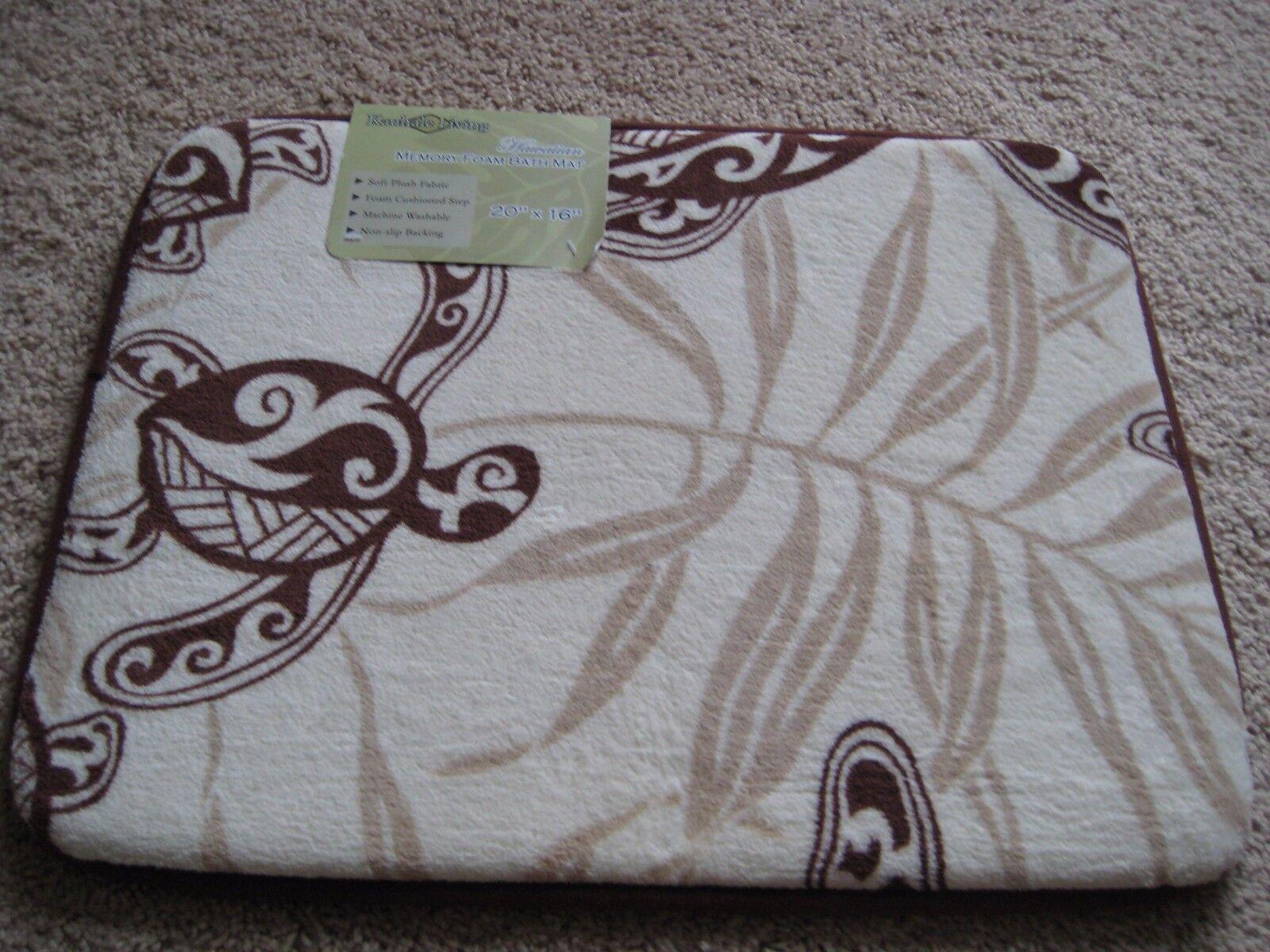 """Hawaii Memory Foam Mat Flora spa rug 16""""x20"""" Hawaiian Honu T"""