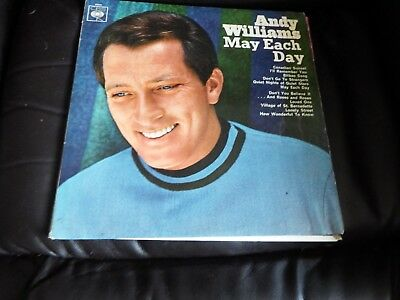ANDY WILLIAMS May Each Day LP VINYL UK Cbs 1966 12 Track Orange Label Stereo