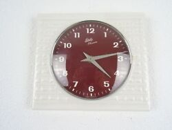 Schatz Retro Vintage Ceramic Kitchen German Wall Clock (Junghans Max Bill era)