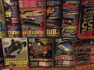 Various old car magazines
