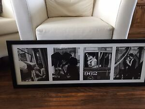 Framed black and white photographs (all one photo)