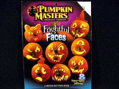 Carving Faces Pumpkins Halloween (Pumpkin Masters FRIGHTFUL FACES Carving Pattern Book 8 Patterns)