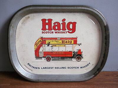 """Rare vintage """"HAIG"""" Scotch Whisky advertising tin tray of 50's. for sale  Shipping to United States"""