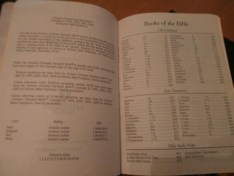 HOLMAN Holy Bible King James Version Black imitation leather cover