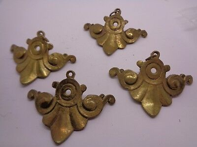 SET 4 BRASS EDGING CORNER Decorations EMBELLISHMENTS CRAFT WOODTURNING