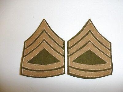 b2022p 1930's US Army & Air Force Chevron Sergeant 1st class pair wool/wool R1B
