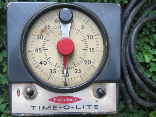 Vintage Dark Room Timer Industrial Timer Company Model p-59 Time-O-Lite