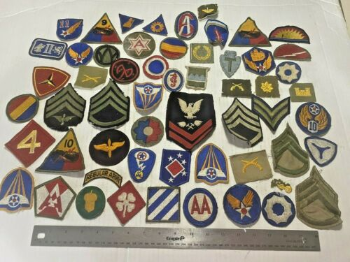 Lot of Vintage Military Patches WWII +