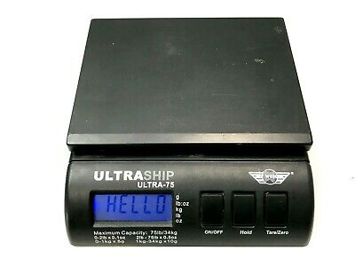Ultraship Ultra-75 Electronic Digital Shipping Postal Kitchenoffice Scale