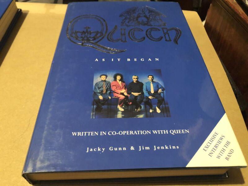Queen As It Began Jim Jenkins + Jacky Original Hardback Book Excellent