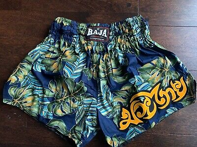 S/&S BLACK RED SHORTS TRUNKS FOR MUAY THAI TRAINING AND FIGHTING