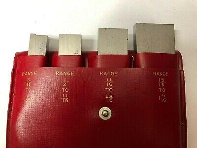Vintage Lufkin Rule 915 A B C D Adjustable Parallel Set Machinist Tool Die Maker