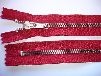 Reißverschluß YKK rot 30cm lang, nicht teilbar 2 Stück  Y121