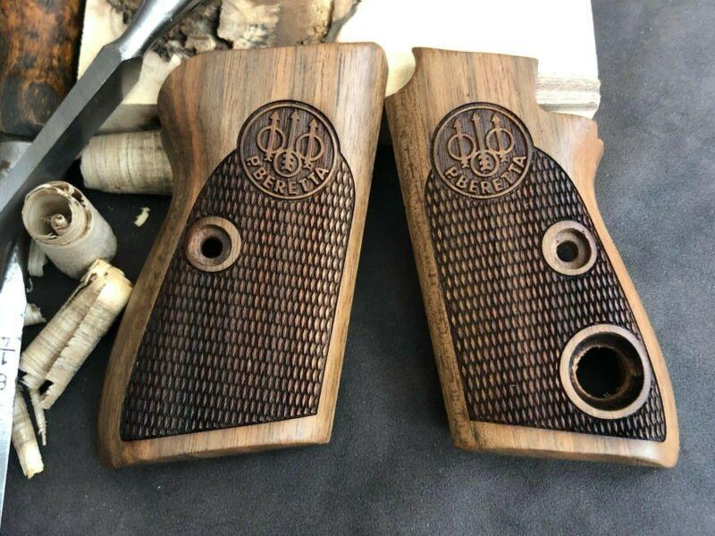Beretta Mod 70 70S 71 Puma Walnut Wood Grips Handmade Checkered.US Based Seller