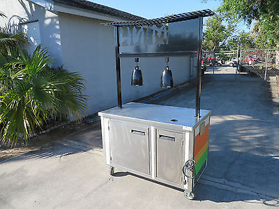 Vending Food Concesion Food Cart Indoor - Outdoor Kiosk Buffet Heat Lamps