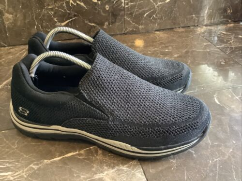 NEW🔥Skechers Mens Size 9 US Black Relaxed Fit Expected-Go