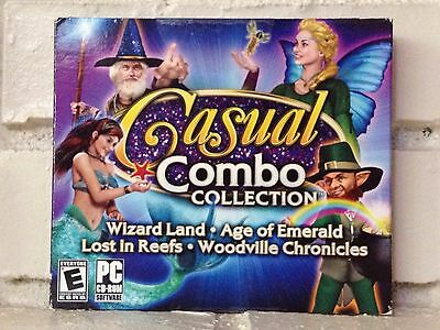 Computer Games - casual combo collection --- 4 challenging adventure computer games --- new