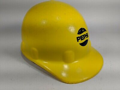 Vintage Fibre-metal Hard Hat Superlectric Yellow Pepsi Promotion Promo Hat
