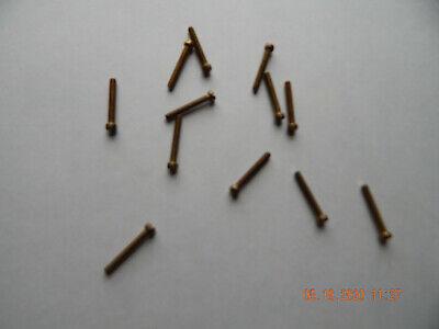 Brass Fillister Head Slotted Machine Screws 632 X 1 12 Pcs. New