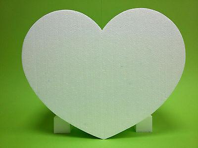 Styroporherz 1 Stück 12 x 11,5 Höhe 5 cm weiß Hochzeit Krepppapier bemalen Farbe