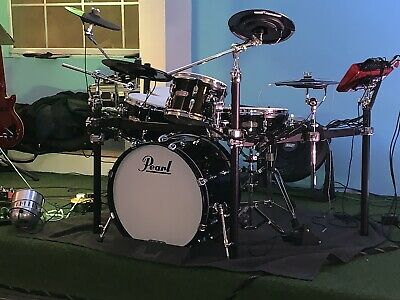 Pearl E-Pro Drum Kit, C/w Extra Cymbals and Tru Trac Hi hat