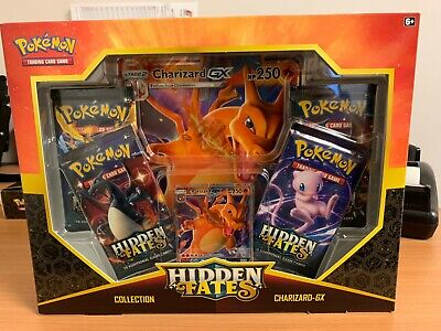 Pokemon Hidden Fates Charizard GX Collection Box Great Condition Factory Sealed!