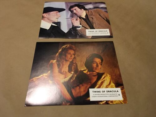 "RARE Pair of "" TWINS OF DRACULA "" 1971 Lobby Cards Promo"