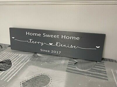 Home Sweet Home Personalised Wooden Sign Plaque Gift - family/love/wedding
