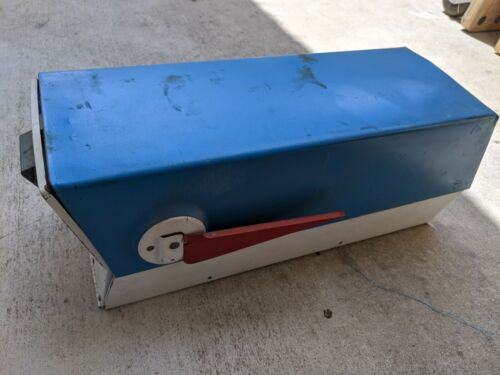 Mid Century Modern Leigh Building Products Mailbox Blue/White