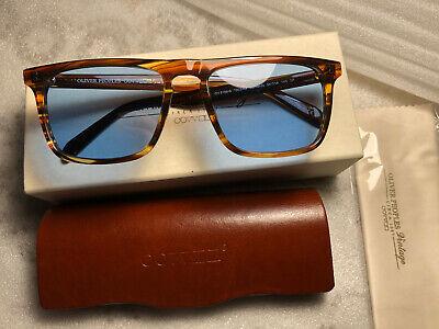 OLIVER PEOPLES Sunglasses BERNARDO OV5189S Cocobolo/Blue Polarized VFX (Olivers People Bernardo)