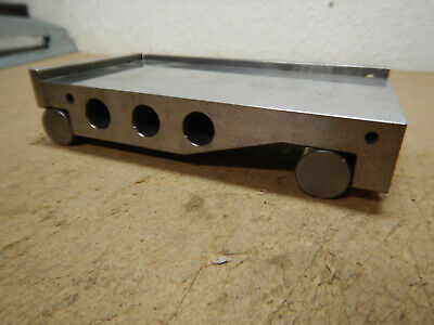 Older Sine Plate With Solid Carbide Rolls Machinist Tooling Jig Fixture