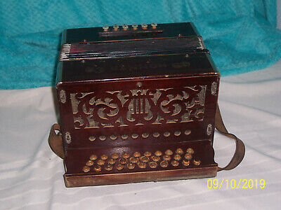 Hohner 3 row Accordion button box Accordian Made in Germany Keys of G C F   # 2