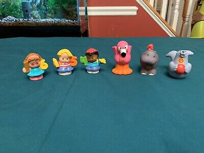 Fisher Price Little People Alphabet Zoo Numbers Preschool Lot Of 6