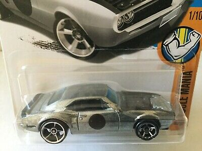 "2017 Hot Wheels 1967 PONTIAC FIREBIRD - ""Zamac"" no paint style Muscle Mania #335"