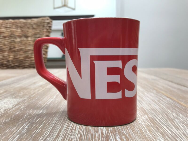 Rare Vintage NESCAFE Red Coffee Cup Mug 8-12 Oz