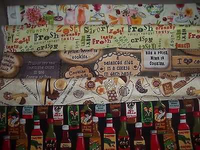 (FOOD kitchen TREATS cooking BTY Cotton quilt FABRIC U-Pick See LISTING for INFO)