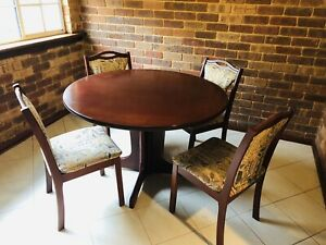 Round Jarrah Table and Chairs