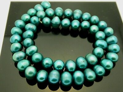 Genuine Freshwater Blue Pearls Potato Irregular Large 9.5-10mm Beads Std 15.5""
