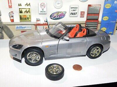RARE Auto Art HONDA s2000 Silver Roadster 1:18 DIECAST PARTS CAR GREY