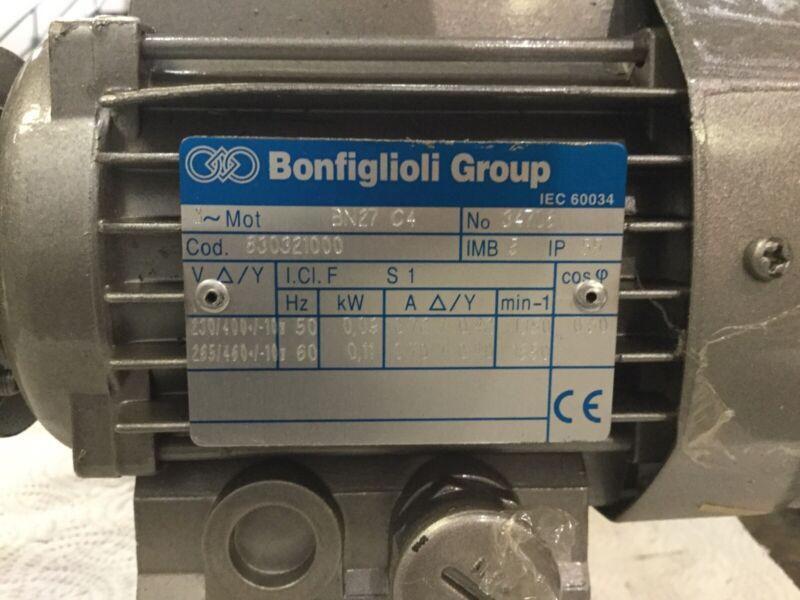 Bonfiglioli Group Gear Drive Motor BN27 C4 NO 34708  Includes:Reductor Base VF27