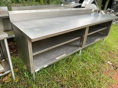Heavy Duty 8 X 31 Commercial Stainless Steel Work Prep Enclosed Cabinet Table