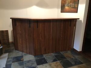 Custom Made Wooden Bar