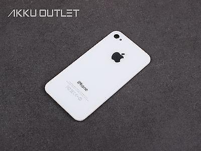 iPhone 4S 4-S  Glas WEISS Gehäuse Akkudeckel ( BACK COVER) Rückseite WHITE / NEU