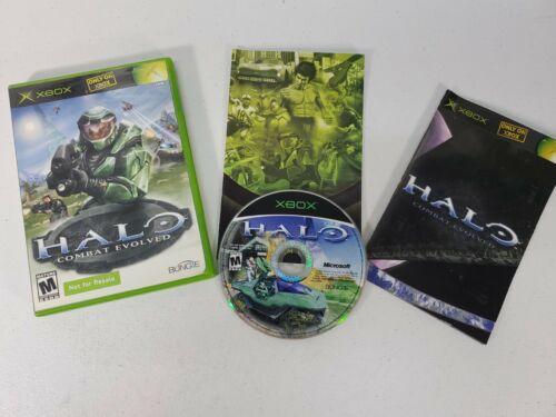 RARE Halo Combat Evolved Not For Resale Version Complete CIB Microsoft XBox - $42.00