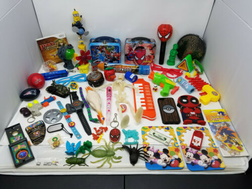 Huge Junk Drawer LOT of Vintage Toys Collectibles Trinkets Disney Marvel more