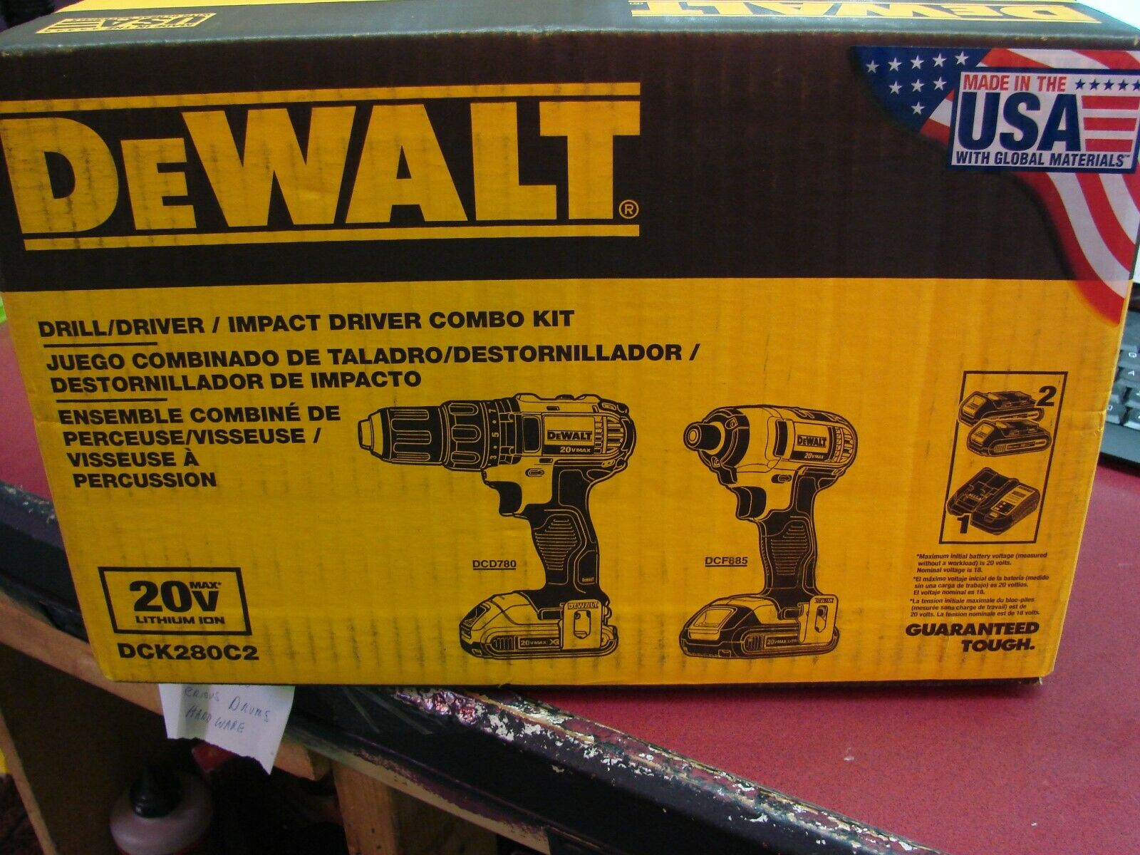 Dewalt DCK280C2 20V MAX Cordless Lithium-Ion 1/2 in. Compact